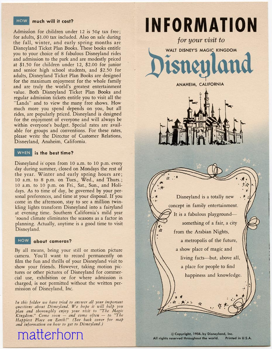 for the Disneyland Hotel.