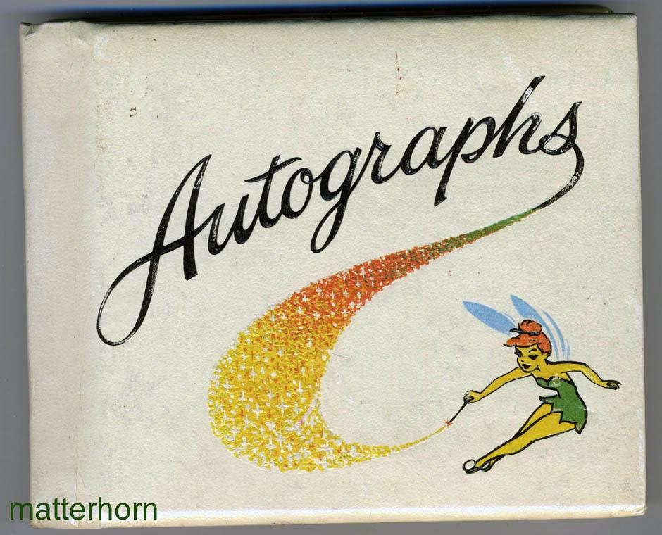 Tinkerbell Autograph Book