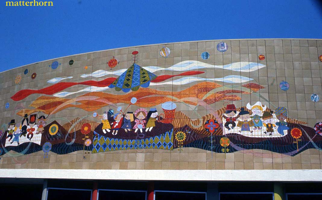 Stuff from the park the mary blair murals tomorrowland for Disneyland mural