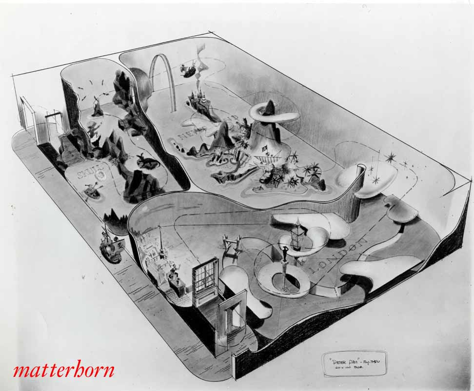 Stuff From The Park Bruce Bushman Peter Pan Ride Layout Drawing
